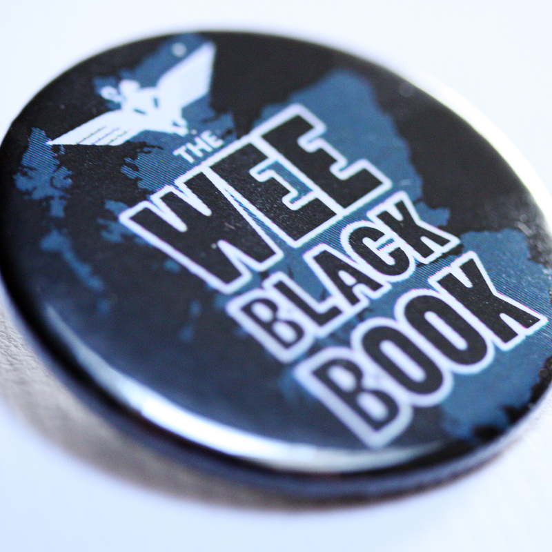 Wee Black Book 38mm badge (10 PACK)