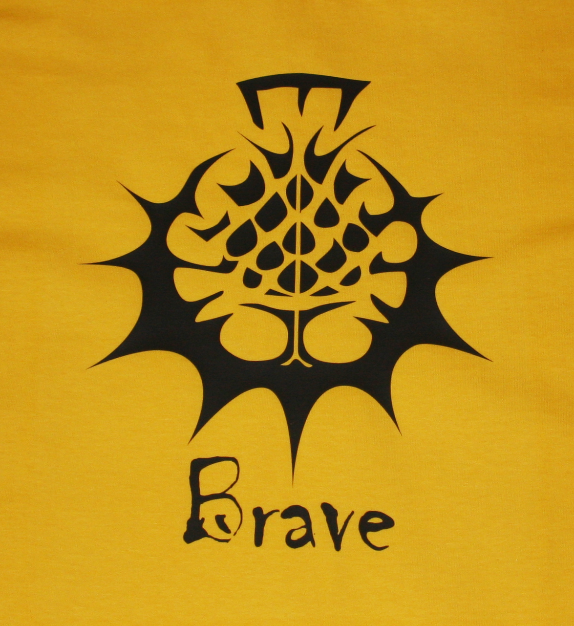 Brave T-Shirt - Black on Yellow