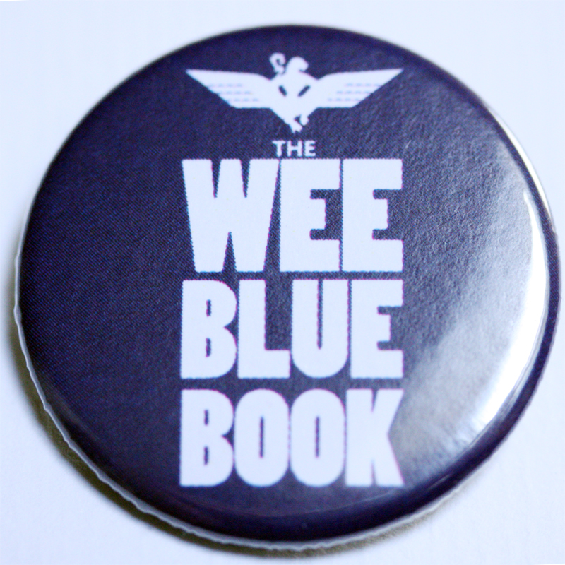 Wee Blue Book 38mm badge (10 PACK)