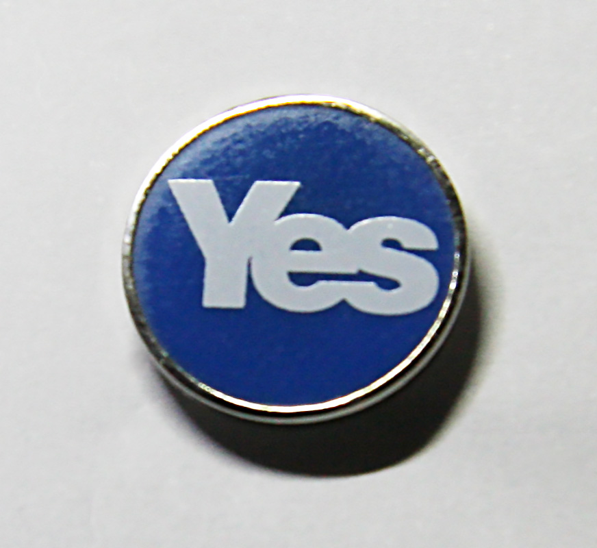 Yes 15mm lapel badge